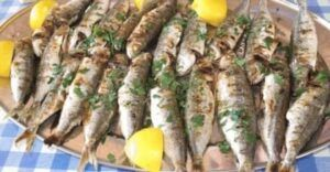 Platter of Grilled Sardines