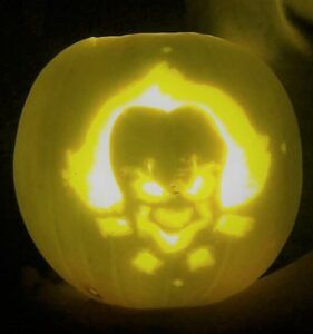 Pennywise jack-o-lantern